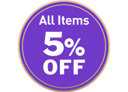 All items 5% off on every 8th, 18th and 28th of each month (Terms and Conditions apply)
