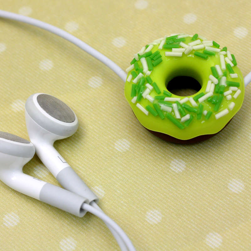 Wire Manager - Donut with Topping - Green