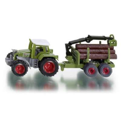 Siku 1645 Tractor with Forestry Trailer