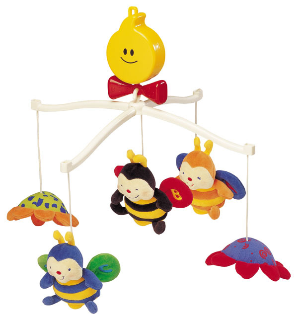 KA10322-Musical Cot Mobile - Clever Bees