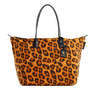 Robertina Leopard Orange - Xlarge Tote