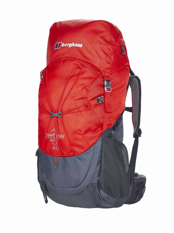 英國戶外遠足露營背囊 - Freeflow II 40 Rucsac, Extrem Red/Carbon