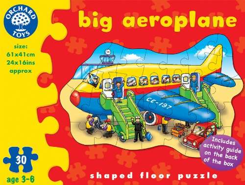 Big Aeroplane Shaped Floor Puzzle