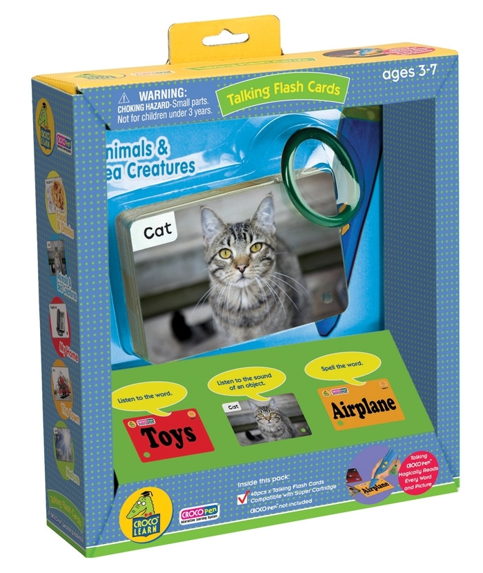 CP85037-Talking Flash Cards –Animal & Sea Creatures