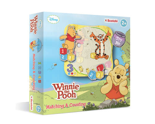 TSC70005-Scotchi WINNIE THE POOH - MATCHING & COUNTING
