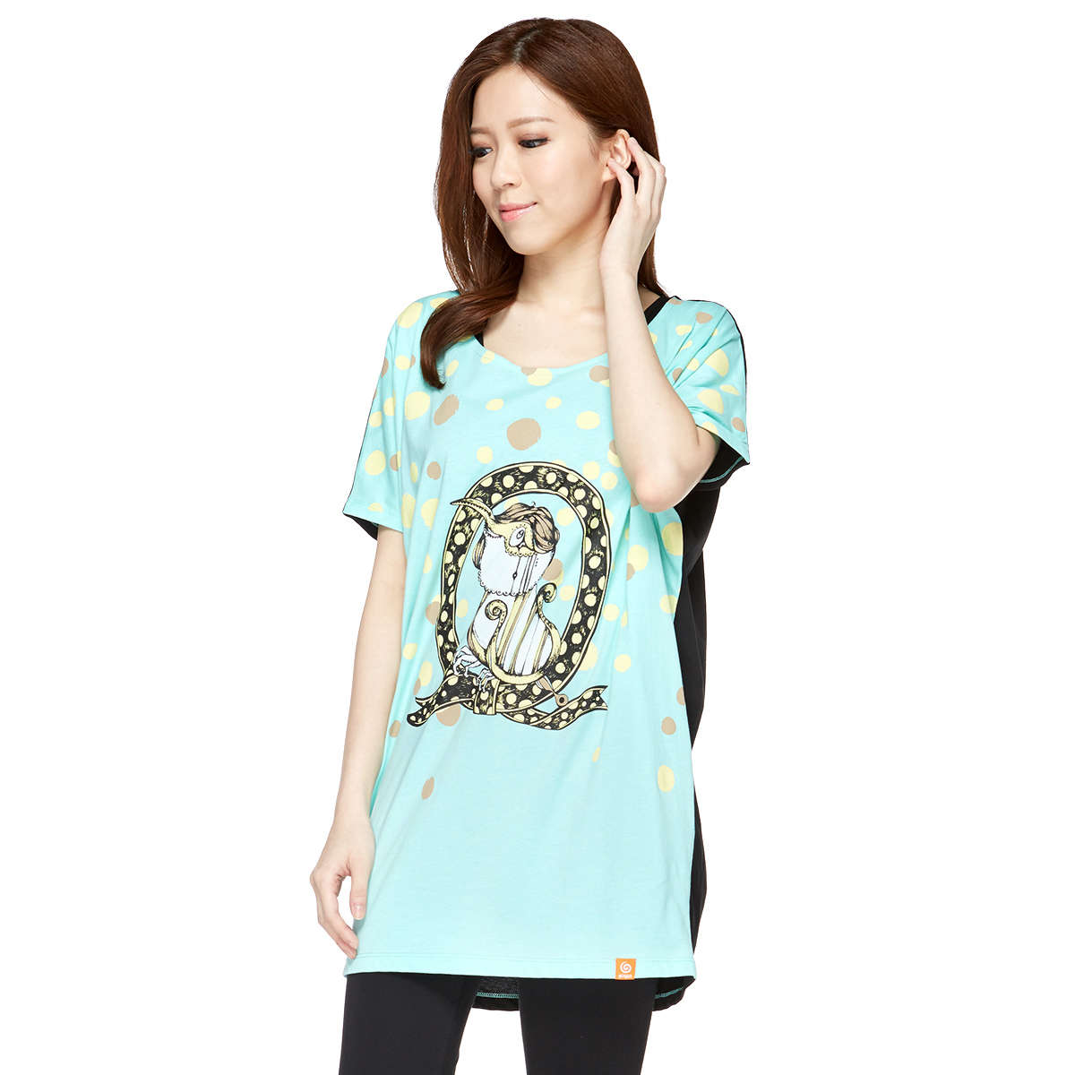 Birdi in the ribbon Lady Loose Long Tee