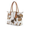 Robertina Monochrome Flower Sand - Large Tote