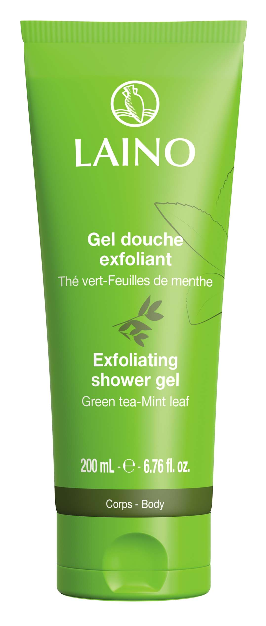 Exfoliating shower gel green tea / mint leaves