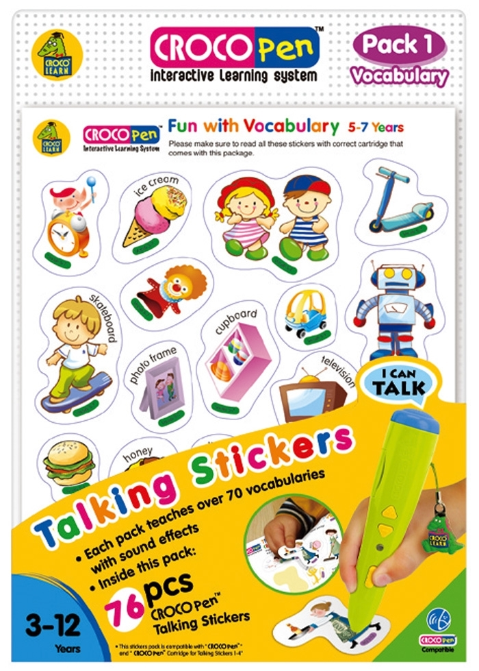 CP85030-Talking Stickers (pack 1)-Vocabulary