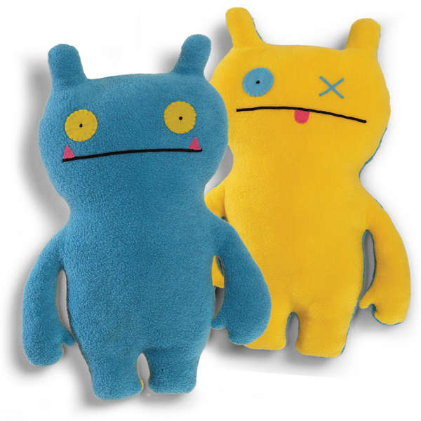 UglyDoll Double Trouble, Wage, Blue/Yellow 14.25""