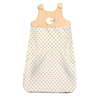 Little Chic Sheep Organic Cotton Padded Baby Sleeping Bag - Velour and Polka Dot Print