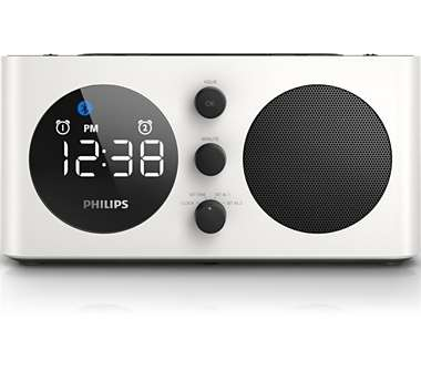 SPEAKER WITH ALARM/BLUETOOTH/USB CHARGE (WHITE)
