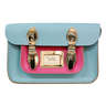 12.5'' Satchel – Baby Blue | Pink | Silver