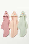 Woodland Collection:Playful Fox-Hooded Towel