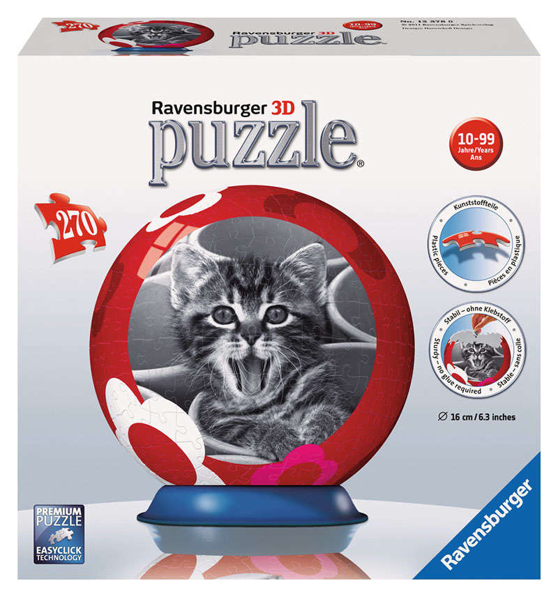 Cool Cats 3D Puzzleball (270 Pieces)