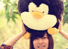 COLOR RICH -  Round Cushion - Penguin (38cm) - 18B0278