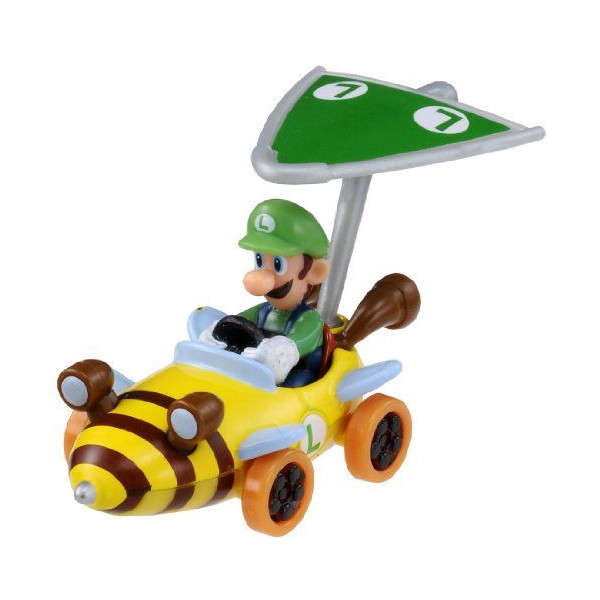 Takara Tomy MARIO Kart 7 Nintendo Luigi Car with Super Kit Toy