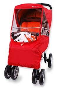 Red Stroller Weather Shield Cover