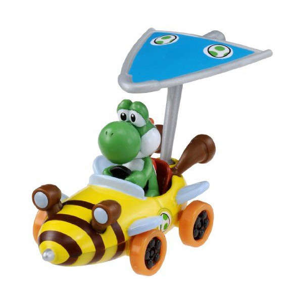 Takara Tomy MARIO Kart 7 Nintendo Yoshi Car with Super Kit Toy