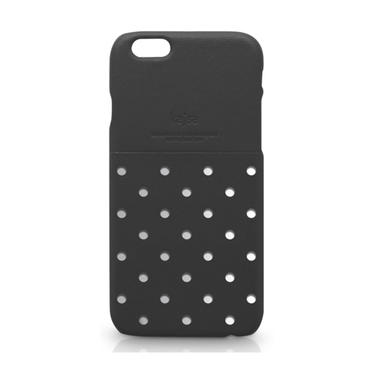 iPhone 6+ (5.5'') 電話殼: Neon Collection Polka Dot Pattern pocket backcase - Black