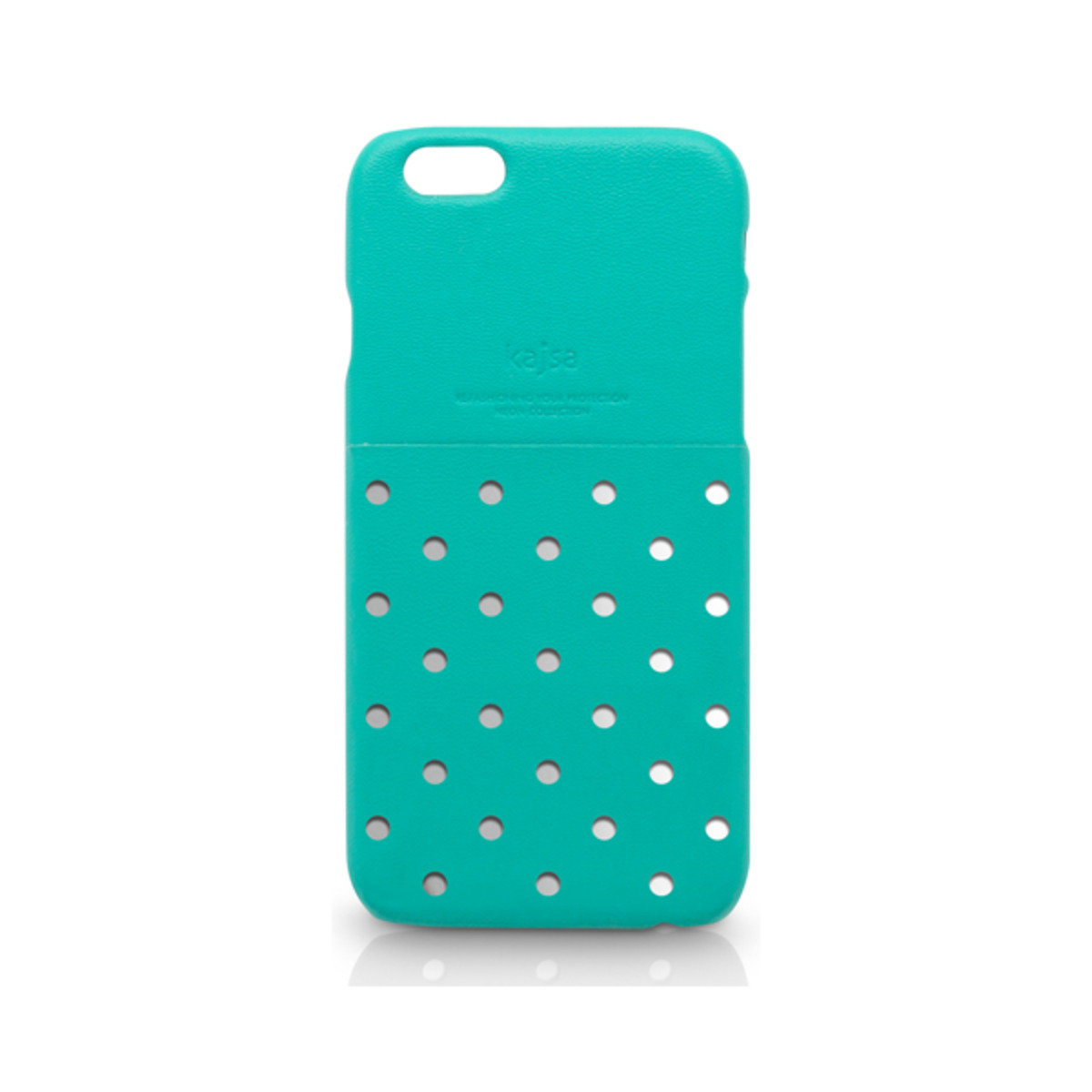 iPhone 6 (4.7'') 電話殼: Neon Collection Polka Dot Pattern pocket backcase - Tiffany
